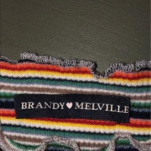 Stripe Rainbow Brandy Melville Shirt